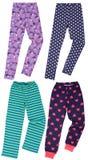 Set of female sweatpants. Isolated on white background. Royalty Free Stock Photography