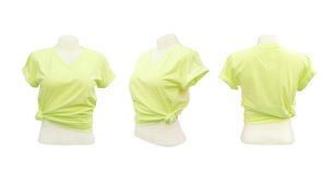 Set of female tshirt template Royalty Free Stock Photography