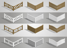 Set fence sections Stock Images