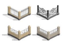 Set fence sections Stock Photography