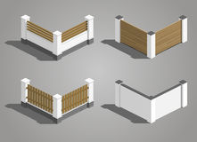 Set fence sections Royalty Free Stock Photos