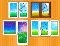 Set Fensterschablonen Lizenzfreies Stockfoto