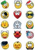 Set of festive avatars. Vector set of many  festive avatars and human emotions Royalty Free Stock Photo