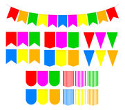 Set festive flags Stock Images