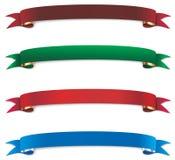 Set of festive ribbon. Ribbon decoration decorative christmas gift package Royalty Free Stock Images