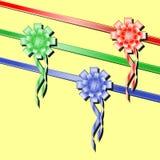 Set festive ribbons. Vector set festive ribbons bright multicolored Stock Image