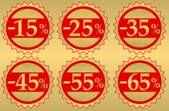 Set of festive sale Stock Images
