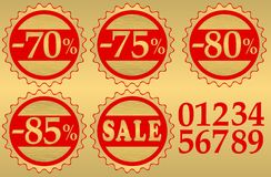 Set of festive sale  tags Royalty Free Stock Photography