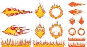 Set Feuerelemente Stockbild