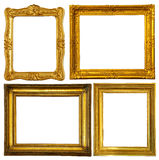Set of few gold frame Stock Photos