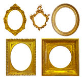 Set of few Luxury gilded frames Stock Photos