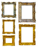 Set of few picture frames. Isolated over white background with clipping path royalty free stock photography
