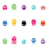 Set of fifteen monsters, vector Stock Images