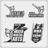 Set of fighting club emblems, labels, badges and design elements. Vector Royalty Free Stock Image