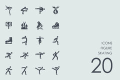 Set of figure skating icons. Figure skating vector set of modern simple icons Stock Photos