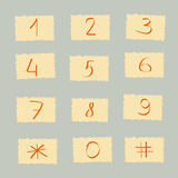 Set of figures and number. Color vector Stock Photo