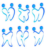 Set of figures teeth logo Royalty Free Stock Image