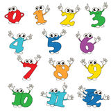 Set of Figures from 0 to 12 set colorful. Royalty Free Stock Photo