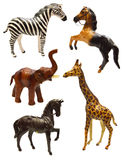Set with figurines of African animals Royalty Free Stock Images