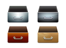 Set of File Cabinet for Documents Royalty Free Stock Image