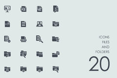 Set of files and folders icons Stock Photo