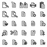 Set of files icons Stock Photo
