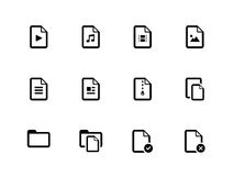 Set of Files icons on white background. Royalty Free Stock Photo
