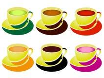 Set filiżanki herbata royalty ilustracja