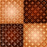 Set filigree damask seamless patterns Royalty Free Stock Photography