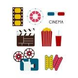 Set filmów elementy Zdjęcie Stock