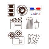 Set filmów elementy Zdjęcia Stock