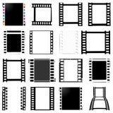Film, movie, photo, filmstrip set of film frame,  illustration. Set of film frame,  illustration film, movie, photo filmstrip Stock Photography