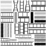 Film, movie, photo, filmstrip set of film frame,  illustration Royalty Free Stock Images