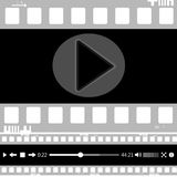 Film, movie, photo, filmstrip set of film frame,  illustration. Set of film frame,  illustration film, movie, photo filmstrip Royalty Free Stock Photos