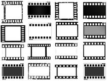 Film, movie, photo, filmstrip set of film frame,  illustration. Set of film frame,  illustration film, movie, photo filmstrip Stock Photos