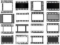 Film, movie, photo, filmstrip set of film frame,  illustration Stock Photos