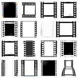 Film, movie, photo, filmstrip set of film frame,  illustration. Set of film frame,  illustration film, movie, photo filmstrip Stock Photo