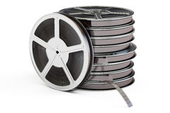 Set of film reels, 3D rendering. On white background Royalty Free Stock Image