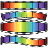 Set of Film strip. Colorful illustration with set of Film strip on a white background Stock Image