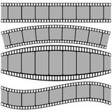 Set of Film strip. Colorful illustration with set of Film strip on a white background Royalty Free Stock Photos