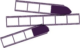 Set of film stripes,. With marks photo frames, free copy space,vector Royalty Free Stock Images