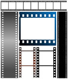 Set of film strips. Vector illustration of film strips Stock Photography