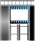 Set of film strips. Vector illustration of film strips Stock Photography