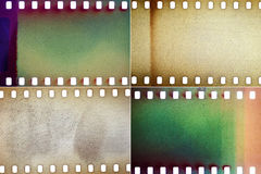 Set of film textures Royalty Free Stock Photography