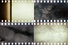 Set of film textures Stock Images