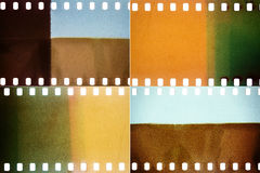 Set of film textures Stock Photos