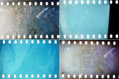 Set of film textures Stock Photo