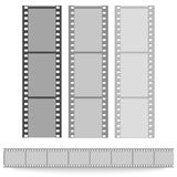 Set of films pattern vector background. Set of films pattern background vector illustration Royalty Free Stock Photos