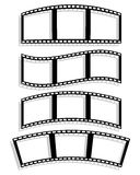 Set of Filmstrip silhouettes with different distortion effect. W Royalty Free Stock Images