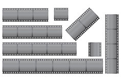 Set of filmstrips. Over white illustration Stock Photos